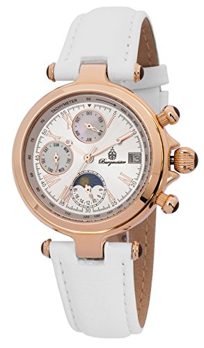 Burgmeister Women's BM216-386 Analog Display Automatic Self Wind White Watch