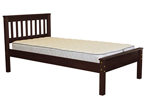 Bedz King Mission Style Twin Bed, Cappuccino