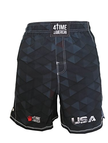 4-Time All American wrestling, MMA, fight shorts size L by 4-Time All American