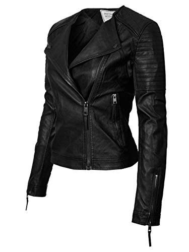 Buy faux leather moto jacket