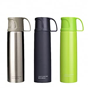 500ml vacuum cup thermo mug women my bottle thermal tea thermocup 304 stainless steel thermos Yellow 500ml