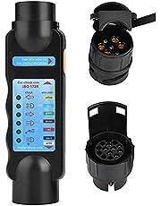 Ysislybin Aanhangertester 7 polen met 7-13 polen en 13-7 polige adapter, aanhangertester, trailer tester 7/13 polige aanhanger