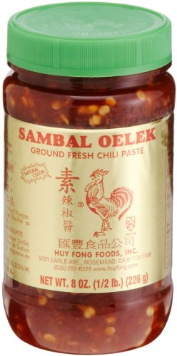 Huy Fong, Sambal Oelek Chili Paste, 8-Ounce Bottles (Pack of 6)