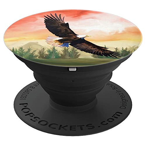 (Eagle Artwork Art Bald Eagle Wings Flying American Pride - PopSockets Grip and Stand for Phones and Tablets)