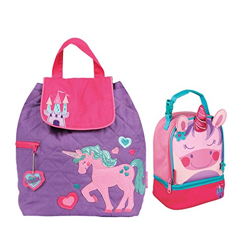(Stephen Joseph Girls Quilted Unicorn Backpack and Lunch Pal with Coloring Activity Book)