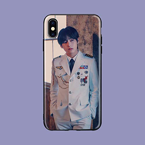 (Jimin Phone Case Compatible With Iphone 7 XR 6s Plus 6 X 8 9 Cases XS Max Clear Iphones Cases High Quality TPU Silicone - Answer Cap - T Photocard - Pullover Items - Coloring- Coloring- 33049247386)