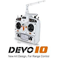 Walkera New Version Devention DEVO 10 2.4GHz 10ch Telemetry RC Transmitter (White) (Transmitter Only)