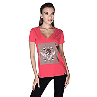 Creo Give Respect T-Shirt For Women - S, Pink