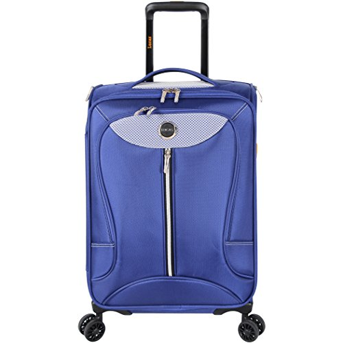 Lucas Luggage Adrenaline 21 inch Carry On Softside Expandable Spinner Suitcase (21in, Cobalt)