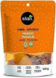 ELAN Organic Mango Slices, No Sugar Added, Non-GMO, Vegan, Gluten-Free, Kosher, 125 g