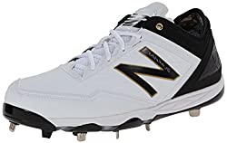 New Balance Men's MBB Minimus Low Baseball Shoe,Grey/White,15 D US