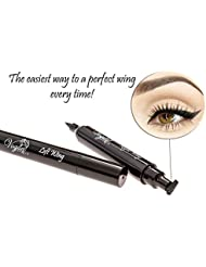 Eyeliner Stamp – by Vogue Effects Black, waterproof, smudgeproof, winged long lasting liquid eye liner pen, Vamp style wing, No Dipping required