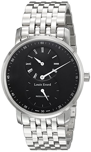 Louis Erard Men's 50232AA02.BMA35 Excellence Analog Display Mechanical Hand Wind Silver Watch