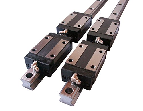 Joomen CNC Set 20-1200mm 2x Linear Guideway Rail 4x Square type carriage bearing block (Pinion Block)