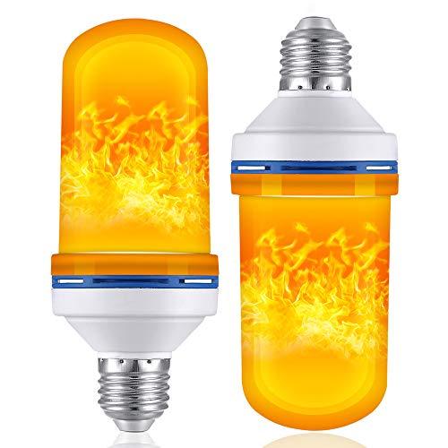 LED Flame Effect Fire Light Bulbs E26 E27