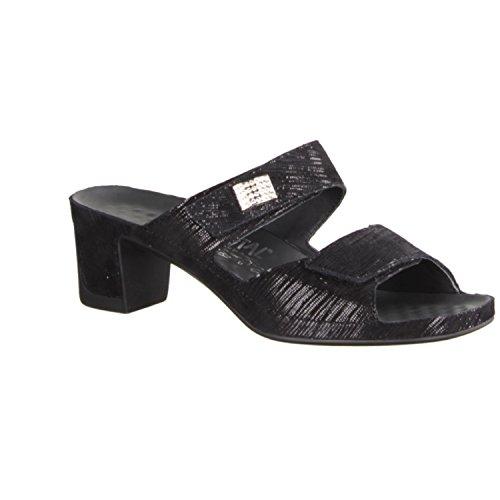 Vital 0501-1599 - Chaussures femme Mule / Tongs, Noir, cuir, hauteur talon: 50 mm