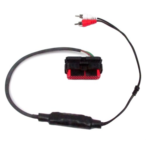 Isolated RCA Input Amp Harness for Rear Speaker Output Harley Touring models with Radios 2006-2013 - J&M Audio JAMP-RCA-ADHK