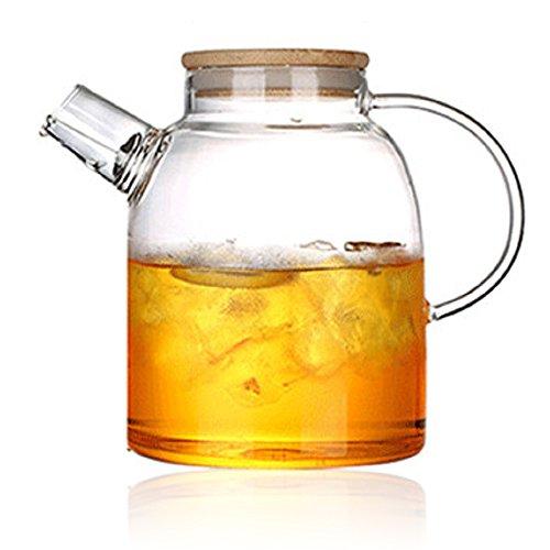Tealife Good Glass Teapot Borosilicate Glass Tea Pots Stovetop Safe,60 Ounce / 1800 ml (1800ml)