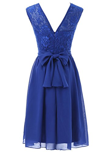 Dresses Women's Bridesmaid Lace with Short Dress Party Prom Blue DYS 48wqPBdP