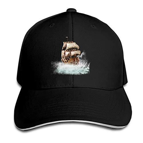 Boat Ship Clip Art Snapback Cap Flat Brim Hats Hip Hop Caps for Men Women ()