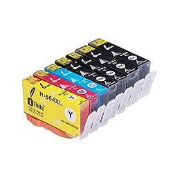 iTinte Compatible HP 564XL ink cartridges 7 Pack (2B2PCMY) for HP Photosmart 5520 6520 7520 5510 6510 7510 7525 B8550 C6380 D7560 Officejet 4620 Deskjet 3520