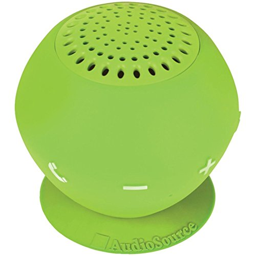 AUDIOSOURCE SP2GRE Sound pOp 2(TM) Water-Resistant Bluetooth(R) Speaker (Green) Electronic Accessories