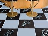 NBA San Antonio Spurs Team Carpet Tiles, Small, Black
