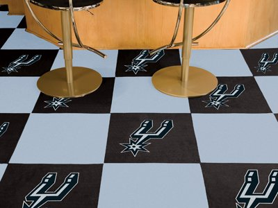 NBA San Antonio Spurs Team Carpet Tiles, Small, Black by Fanmats