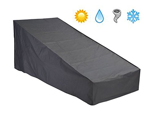 Patio Watcher Patio Lounge Chair Cover Durable and Water Resistant Chaise Cover with Secure Buckle Straps, 66-Inches (Patio Chaise Lounge Cover)
