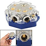 Sydien Blue Car Vehicle Audio 5 Way Power Ground Distributor Block Fuse Holder