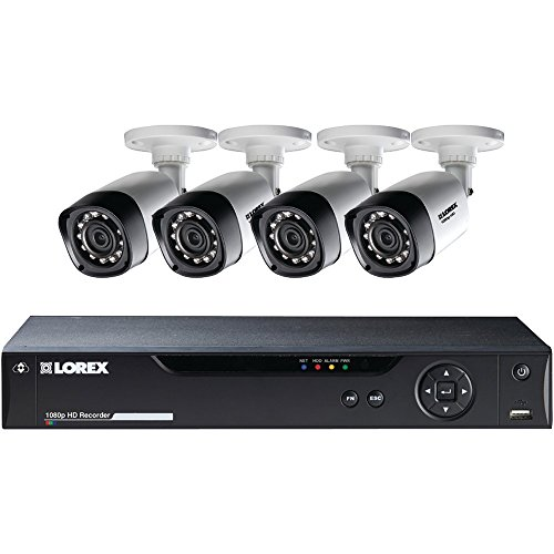 Lorex 8-Channel 4 Bullet Cameras w/ 1TB 1080p HD HDD DVR Security System by Lorex
