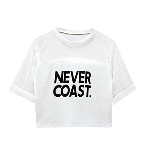 Fedi Apparel Women Letter Print Crop Top Crew Neck Short Sleeve T-Shirt Leopard Tops