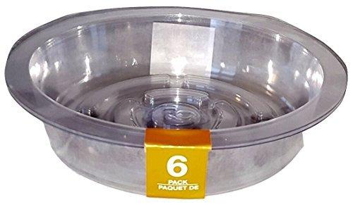 Plant Pot Saucers Clear Plastic Indoor Outdoor Garden Assorted Sizes 13-pc Set ()