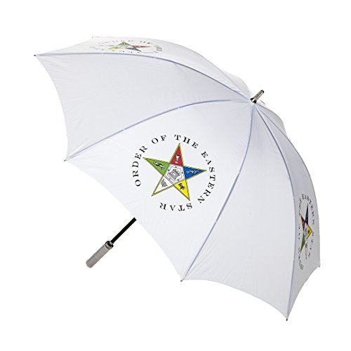 Order Of The Eastern Star Mini Auto up/down Umbrella - Curved (Curved Star)