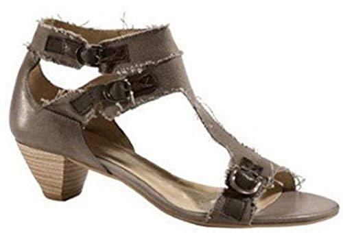 Sandalette Mujer Pardo Para Marrón Anyo Emotion De Tela Sandalias Vestir Cuero Y 5WAzPxWH