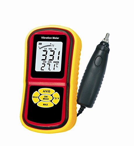 BENETECH GM63B Portable Digital Vibrometer Vibration Analyzer Tester Meter + Temperature Meter with LCD Backlight & Max. Hold