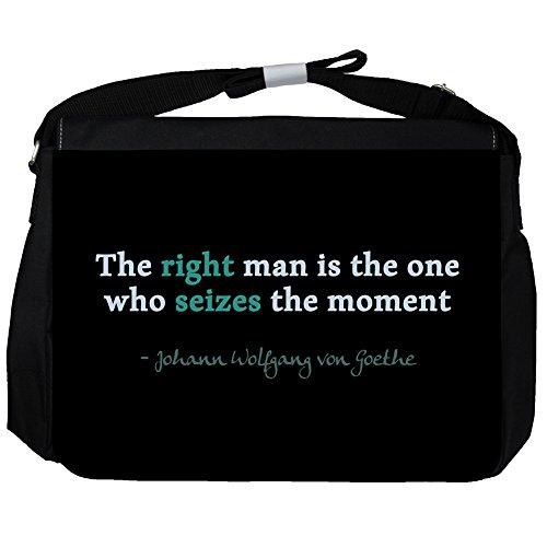 The right man - Johann Wolfgang von Goethe Unisex Umhängetasche