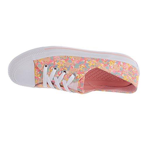 Converse Womens Chuck Taylor All Star Coral Ox Sneaker Vapor Rosa / Tramonto Glow / Focena / Bianco