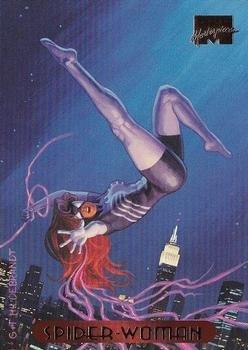 Spider-Woman Marvel Masterpiece 1994 POWERBLAST Trading Card #117