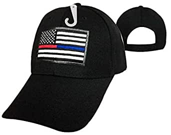 Black Thin Blue Line Thin Red Line Usa Flag Support Police