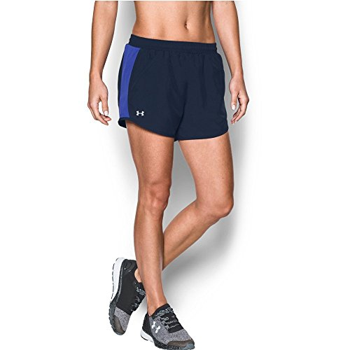 Under Armour Women's Fly-By Shorts, Midnight Navy/Reflective, Medium