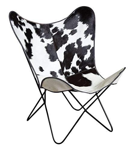 Silla BUTTERFLY (piel de vaca, negro, V015004 : Adulte ...