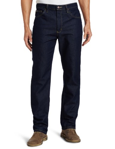 Lee Men's Regular Fit Straight Leg Jean, Indigo Stretch, 34W x 29L