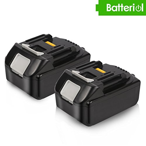 Batteriol 2Pack 18V 5.0Ah Lithium-Ion Battery Replacement for Makita BL1850 BL1840 BL1830 BL1820 LXT-400 194204-5 Cordless Power Tools (Not for DC18RA charger) by Batteriol