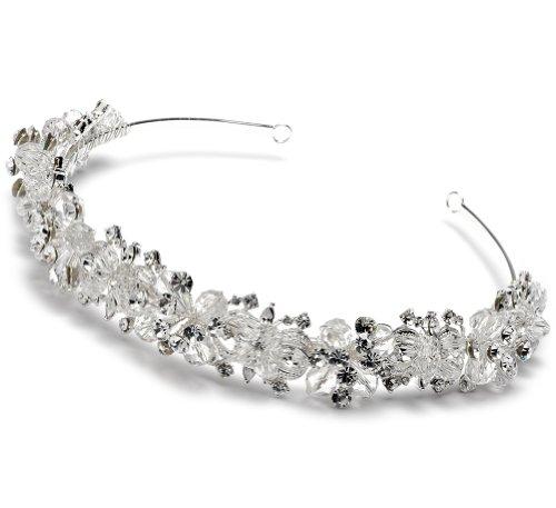 USABride Swarovski Crystal & Rhinestone Cluster Bridal Headband Wedding Tiara 3069 by USABride