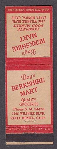 Boy's Berkshire Mart 3105 Wilshire Blvd Santa Monica CA - Blvd Kids