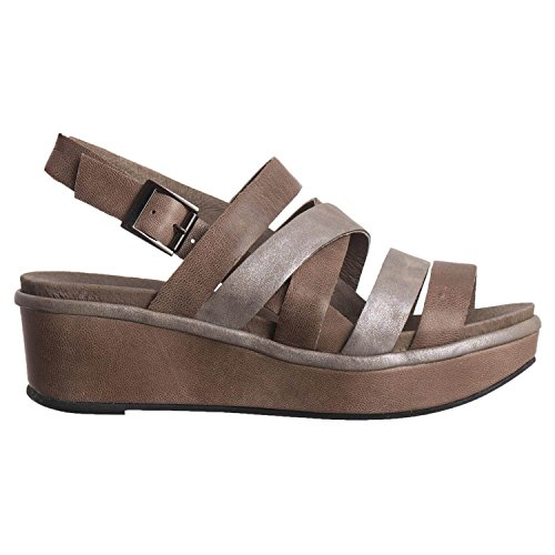 Women Strap 433 Six Sandal Grey Antelope Leather U6Cwq5d