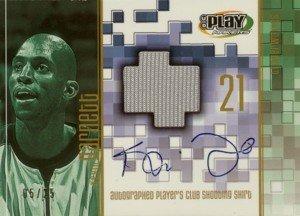 ケビンガーネットKevin Garnett 2001/02 UD Playmakers Player's Club Shooting Shirt Autograph 25枚限定! B004ZBWMYW