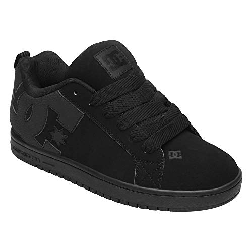 DC Shoes Men's Court Graffik Skate Shoes Black/Black/Black 13