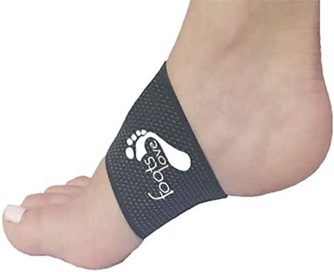 Foots Love. 2 Copper Compression Plantar Fasciitis Braces - Arch Support Sleeves and Foot Care Ebooks